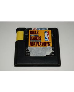 Bulls versus Blazers and the NBA Playoffs Sega Genesis Video Game Cart