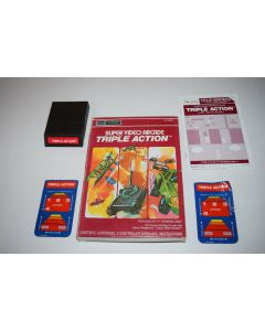 Triple Action Sears Intellivision Video Game Complete in Box
