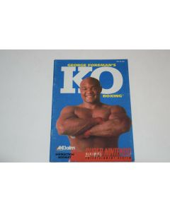 George Foreman's KO Boxing Super Nintendo SNES Video Game Manual Only