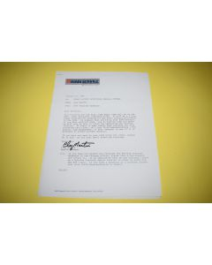 Atari 5200 Factory Authorized Service Training Sessions 1983 Letter w/ Enclosure