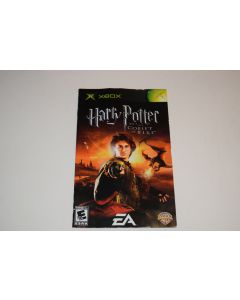 Harry Potter and the Goblet of Fire Microsoft Xbox Video Game Manual Only