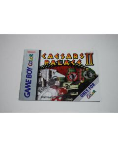 Caesars Palace II Nintendo Game Boy Color Video Game Manual Only