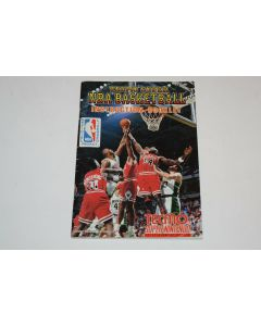 Tecmo Super NBA Basketball Super Nintendo SNES Video Game Manual Only