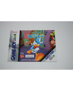 Donald Duck Going Quackers Nintendo Game Boy Color Video Game Manual Only