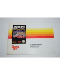 Jeopardy Nintendo NES Video Game Manual Only