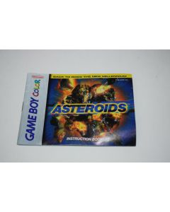 Asteroids Nintendo Game Boy Color Video Game Manual Only