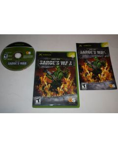 Army Men Sarge's War Microsoft Xbox Video Game Complete