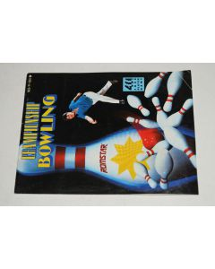 Championship Bowling Nintendo NES Video Game Manual Only
