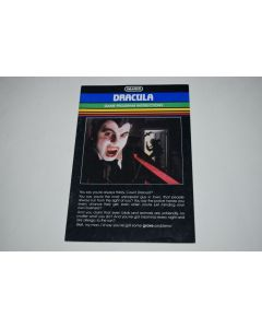 Dracula Intellivision Video Game Manual Only