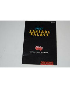 Super Caesar's Palace Super Nintendo SNES Video Game Manual Only
