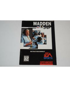 Madden 96 Super Nintendo SNES Video Game Manual Only
