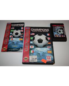 Champions World Class Soccer Sega Genesis Video Game Complete in Box