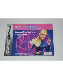 Barbie Secret Agent Barbie Nintendo Game Boy Advance Video Game Manual Only