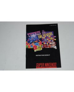 Tetris and Dr. Mario Super Nintendo SNES Video Game Manual Only