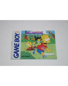 Bart Simpson's Escape from Camp Deadly Nintendo Game Boy Video Game Manual Only