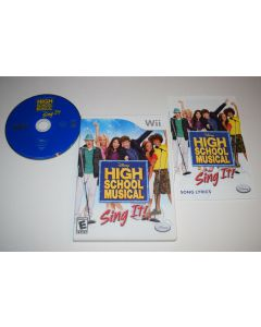 High School Musical Sing It Nintendo Wii Video Game Complete