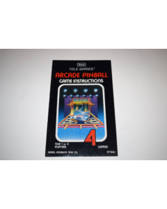 Arcade Pinball Atari 2600 Video Game Manual Only