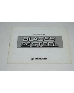 Blades of Steel Silver Version Nintendo NES Video Game Manual Only