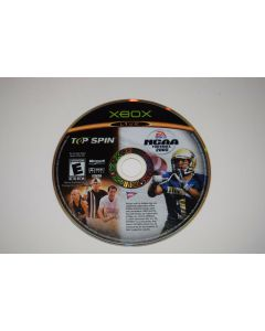 NCAA Football 2005 and Top Spin Combo Pack Microsoft Xbox Video Game Disc Only