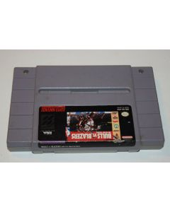 Bulls Vs Blazers and the NBA Playoffs Super Nintendo SNES Video Game Cart