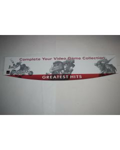 Playstation 2 Greatest Hits Sony Red Gray Store Retail Display Sign