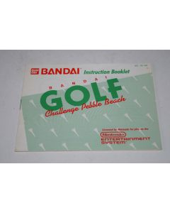 Bandai Golf Challenge Pebble Beach Nintendo NES Video Game Manual Only