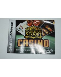 Golden Nugget Casino Nintendo Game Boy Advance Video Game Manual Only