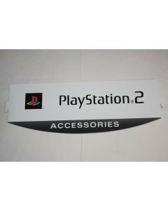 Playstation 2 Accessories Sony White Gray Store Retail Display Sign