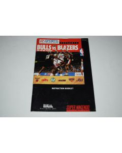 Bulls Vs Blazers and the NBA Playoffs Super Nintendo SNES Video Game Manual Only