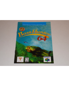 Bass Hunter 64 Nintendo 64 N64 Video Game Manual Only