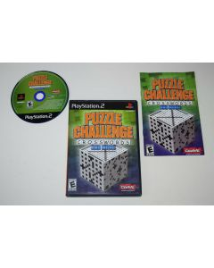 Puzzle Challenge Crosswords and More Playstation 2 PS2 Video Game Complete