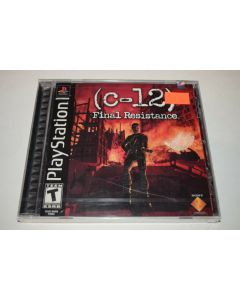 C-12 Final Resistance Playstation PS1 Video Game New Sealed