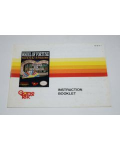 Wheel of Fortune Nintendo NES Video Game Manual Only