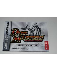 Duel Masters Sempai Legends Nintendo Game Boy Advance Video Game Manual Only