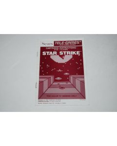 Star Strike Sears Intellivision Video Game Manual Only