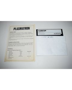Plasmatron Commodore 64 C64 Computer Video Game Floppy Disc w/ Manual