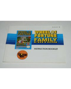 Wheel of Fortune Family Edition Nintendo NES Video Game Manual Only