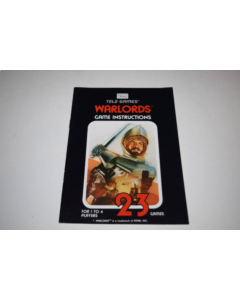 Warlords Sears Atari 2600 Video Game Manual Only